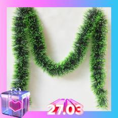 Dây thông dây chồn dài 180cm trang trí giáng sinh, trang trí cây thông mùa lễ hội noel (N007)