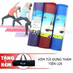 Thảm tập yoga (tập thể dục tại nhà) Âu Lạc dày 9mm, kích thước 175x65cm (tặng kèm túi đựng thảm)