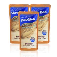 Combo 03 túi nước thơm lau sàn Mao bao 1000ml – Hương gỗ đàn hương (B)