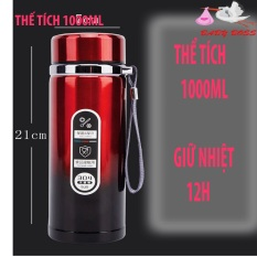 Bình Giữ nhiệt Inox 304 VN01,1000ML, giữ nhiệt 12h, Tiện Lợi Mang Theo