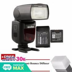 [Nhập LZDEL51 giảm 10% tối đa 200k cho đơn 99k] Đèn Flash Godox V860II Cho Canon (Kèm pin và sạc) – Tặng tản sáng Omni bouce