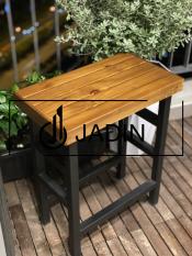COMBO 02 Ghế Bar mặt gỗ chân sắt, ghế đôn cao chữ nhật, ghế ban công