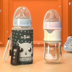 [BIG SALE] Bình Sữa Giữ Nhiệt Tiện Lợi 3 trong 1 Dr green Dành Cho Bé
