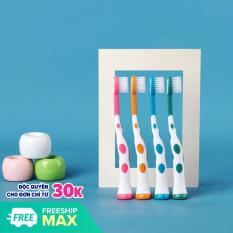 Set 4 bàn chải xuất Nhật cho bé từ 2-5 tuổi lông bàn chải mềm mại hình hươu cao cổ ngộ nghĩnh BBShine – I015 – Giới hạn 1 sản phẩm/khách hàng