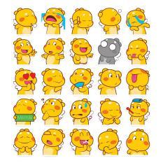 Bộ 25 sticker chủ đề gấu bông Qoobee cảm xúc ngộ nghĩnh chống nước dán điện thoại, laptop, xe đạp, nón bảo hiểm,…