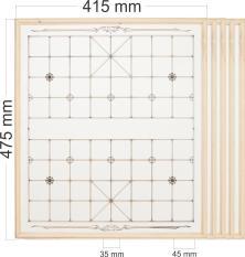 Bộ 5 bàn cờ gỗ loại thẳng
