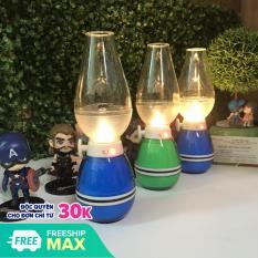Đèn tốt, Đèn dầu cảm ứng đèn dầu thổi tắt, sáng, không khói cảm ứng khi thổi LED màu ngẫu nhiên,để bàn thờ tiện lợi
