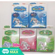 Khẩu trang trẻ em [4 tháng – 4 tuổi] [MUA 5 TẶNG 1 BÀN CHẢI EM BÉ]- 3D Smart Kid Tulips Công nghệ Nhật Bản