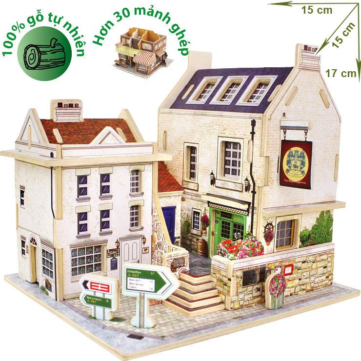 Mô hình nhà gỗ DIY – 3D Jigsaw Puzzle Wooden Toys HPMB6133
