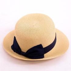 Mũ cói vành nhỏ phong cách vintage cho bạn gái GT 247 (Vàng trơn)