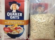 Nửa thùng yến mạch Quaker oats (dạng cán mỏng) Old fashioned 2.26kg