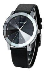 Đồng hồ nam dây da Sinobi SI015 DH25 (Đen)