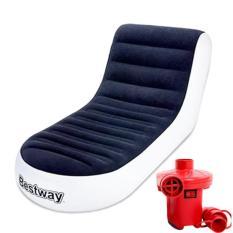 Ghế hơi tựa lưng Bestway kèm bơm điện hút xả 2 chiều