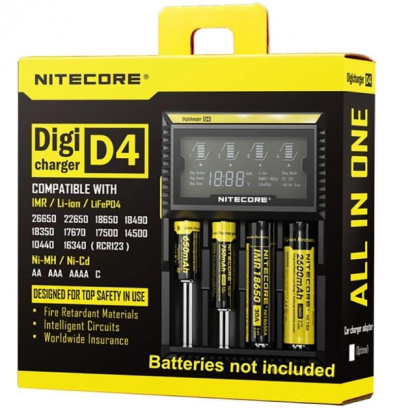 Sạc đa năng Nitecore D4 (Đen)