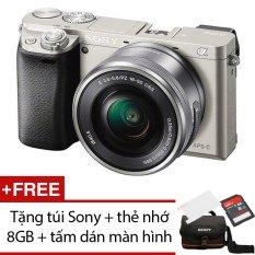 Sony A6000 24.3MP với Lens Kit 16-50mm (Bạc) + Tặng 1 túi Sony ,1 thẻ nhớ 8GB , 1 tấm dán màn hình