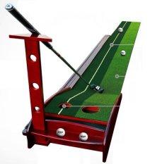 Thảm Tập Golf Putter Gỗ (dùng tập luyện trong nhà, văn phòng)