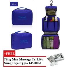 Túi du lịch đựng đồ cá nhân Travel (Xanh Dương) + Tặng Máy mát-xa xung điện trị liệu cho deal 24h SYK 208 4 miếng dán (Trắng)