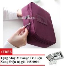 Túi đựng đồ cá nhân dành cho Nam chodeal24h.vn (Rượu Vang) + Tặng Máy mát-xa xung điện trị liệu cho deal 24h SYK 208 4 miếng dán (Trắng)