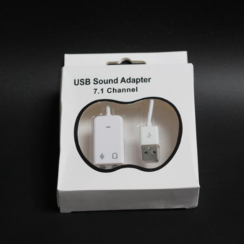 USB Sound Adapter cho laptop, PC 7.1 Channel (Trắng)