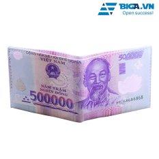 Ví Da Loại 1 Hình Dáng Tờ Tiền 500000 Đồng USA2626 [Free Ship]