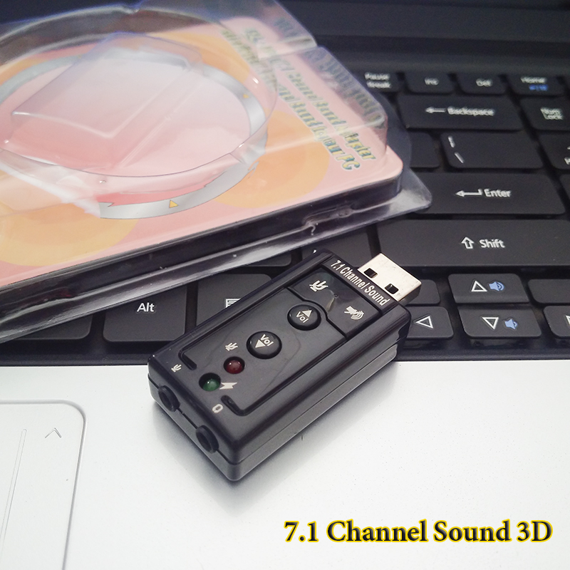 USB Sound âm thanh 3D ra 2 cổng 7.1