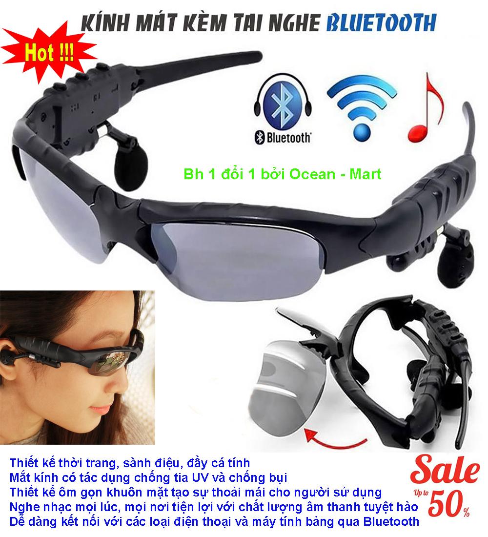 Mat Kinh Co Tai Nghe Bluetooth, Mắt Kính Bluetooth 4.1 Siêu Thông Minh, Mẫu Mới 2018070 Kết Nối Bluetooth, Nghe Nhạc, Chống Bụi, Bảo Vệ Mắt Khỏi Tia Uv – Bh 1 Đổi 1 Bởi New – Sky