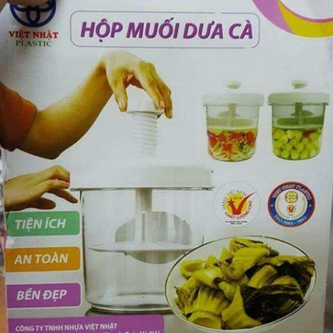 Mua vỉ nén ở đâu, hộp nhựa việt nhật – Bình muối dưa cà tiện ích, Bền đẹp, Cách muối dưa cà an toàn hiệu quả, Đồ dùng nhà bếp ưa thích của phụ nữ – TDBMDC011