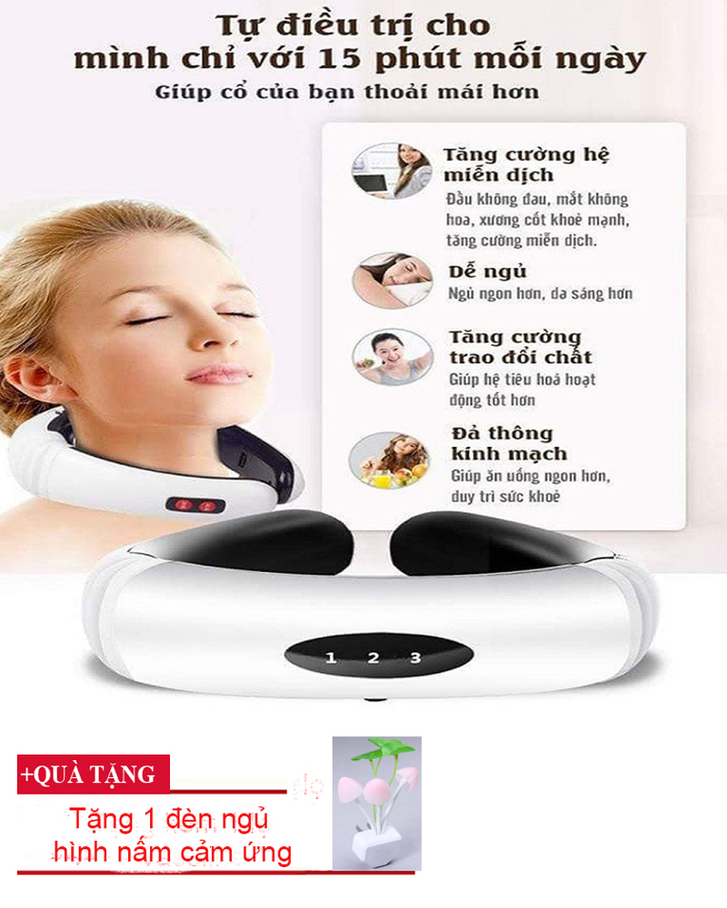 Máy Massage Thông Minh, Máy Massage Vai Gáy Cổ 3D Cảm ứng Từ Thông Minh , Giảm Đau Mỏi Vai Gáy,Hỗ Trợ Điều Trị Bệnh Đau Mỏi Vai Gáy Hiệu Quả, Bảo Hành Uy Tín Bởi Phuong Tra Shop- Mã 157