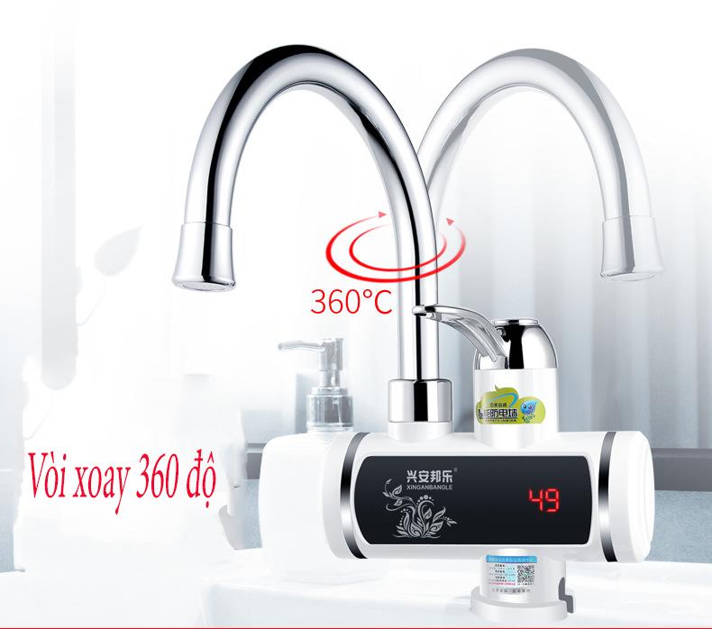 Giá Vòi Rửa Bát Nóng Lạnh Gắn Chậu -Máy nước nóng trực tiếp tại vòi RMB làm nóng NHANH trong 3 giây + Tặng kèm Rơ le chống giật ELCB chống rò điện, tự động ngắt điện chống giật, Bảo hành 6 tháng toàn quốc